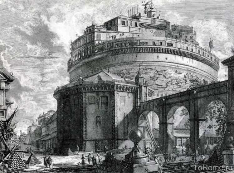 Перестроенная крепость, охранявшая Рим от захватчиков
