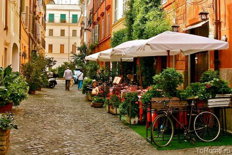 Улочка в Трастевере в Риме