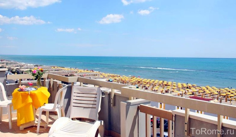 Пляж Остии недалеко от Рима