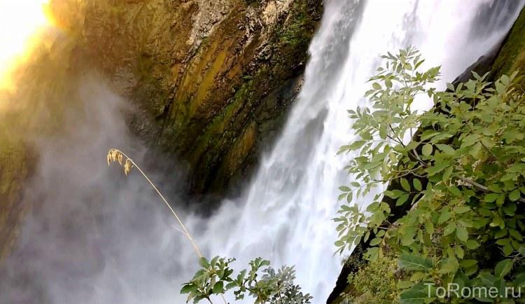Водопад виллы Грегориана в Тиволи