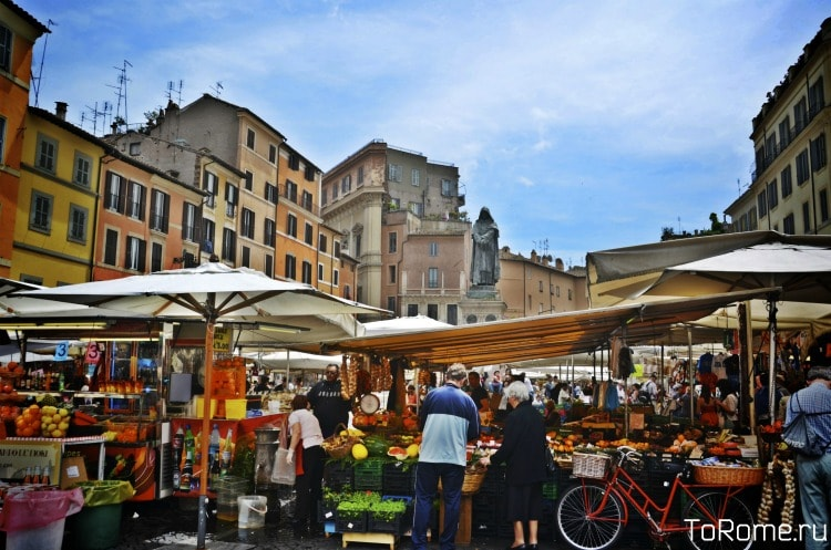 Рынок Campo de'Fiori в Риме