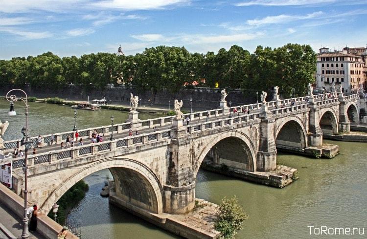 Мост Святого Ангела – красота древнеримского классицизма