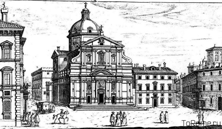 Зарисовка церкви Джезу в Риме