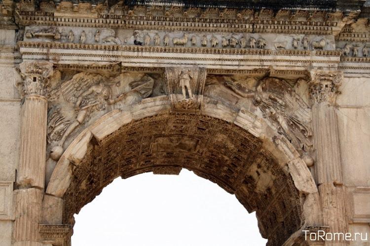 Приближенное изоброжение триумфальной арки Тита