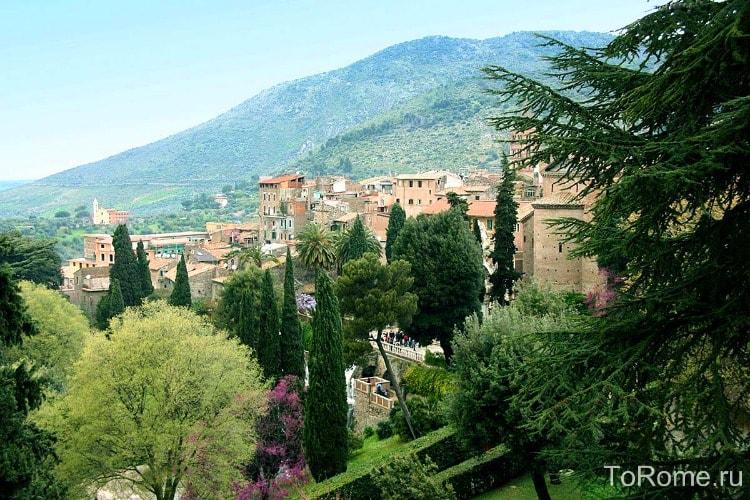 Вид на Тиволи в Италии