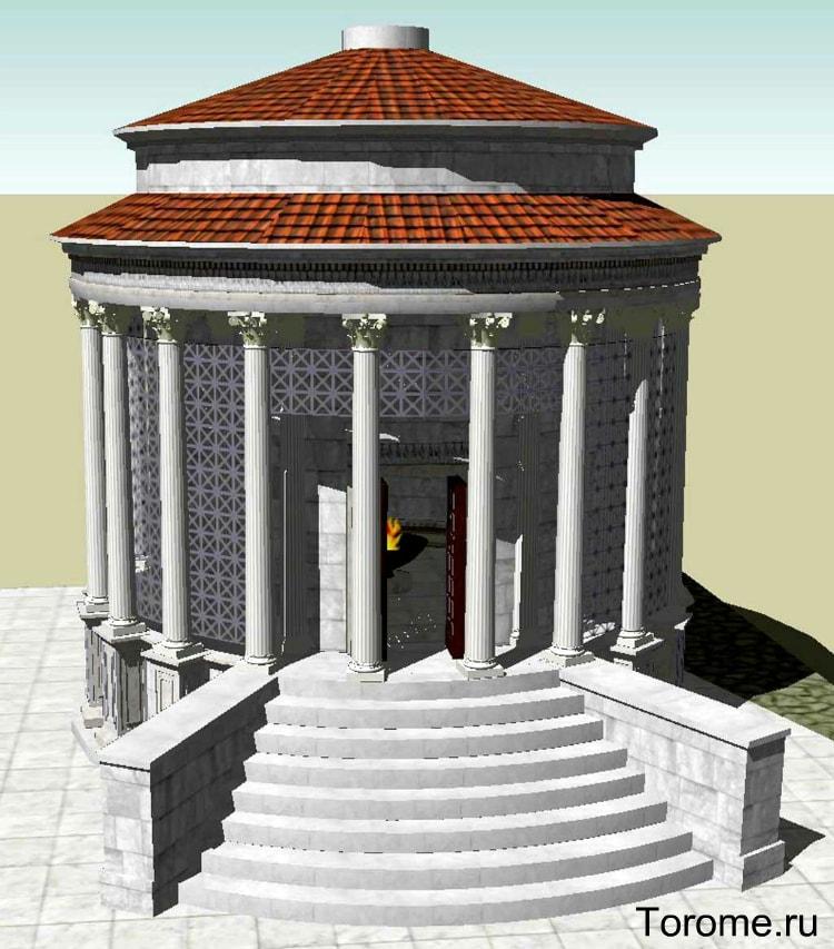 храм весты история