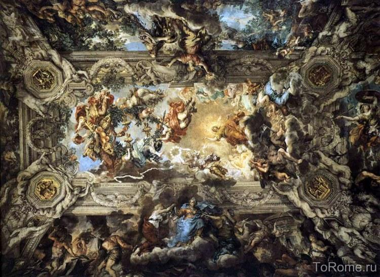 Фреска Пьетро да Кортона Триумф Божественного провидения
