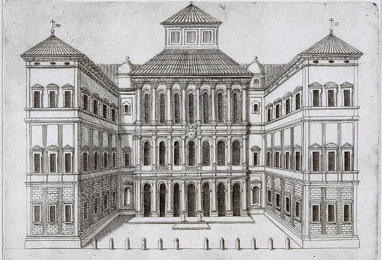 Чертеж палаццо Барберини