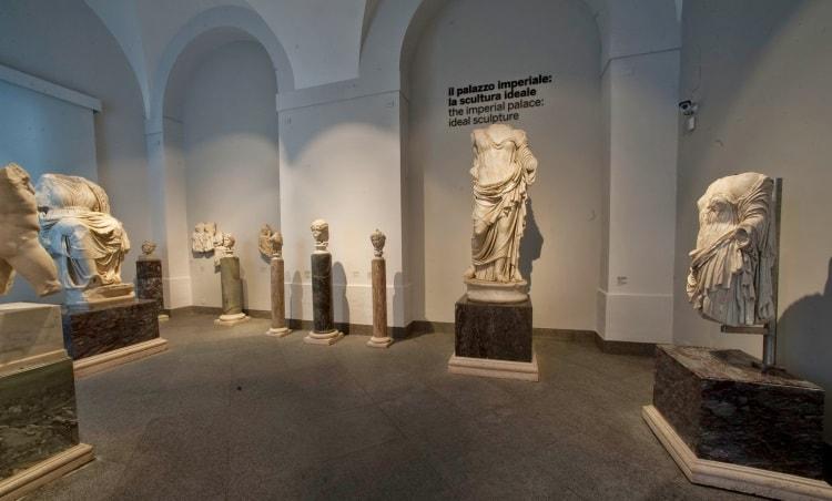 Экспонаты музея Палатино