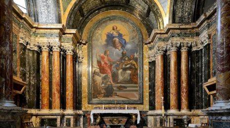 Церковь Санта-мария дель Пополо в Риме