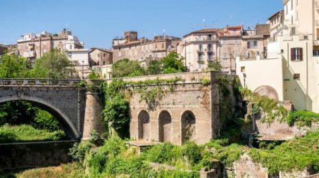 Город Тиволи в окрестностях Рима