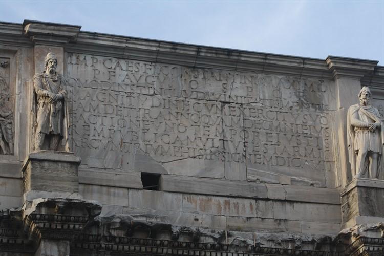 триумфальная арка константина надпись