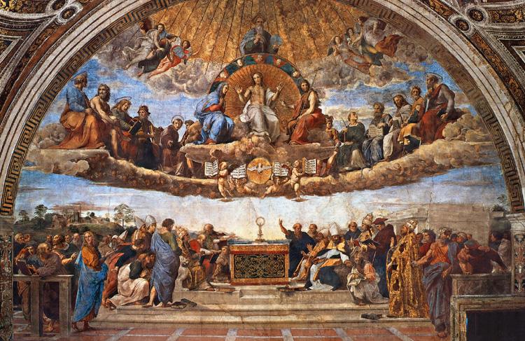 Станца делла Сеньятура рафаэль фреска