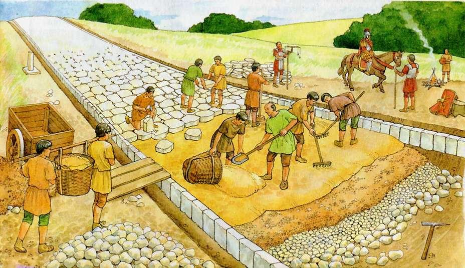 Миниатюра о строительстве Аппиевой дороги