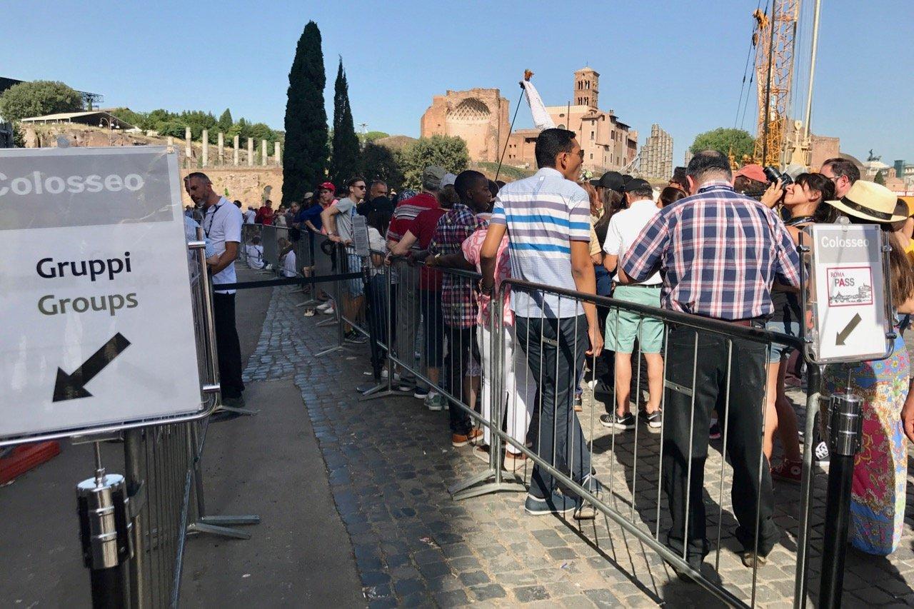 Пропуск очереди для владельцев Roma Pass