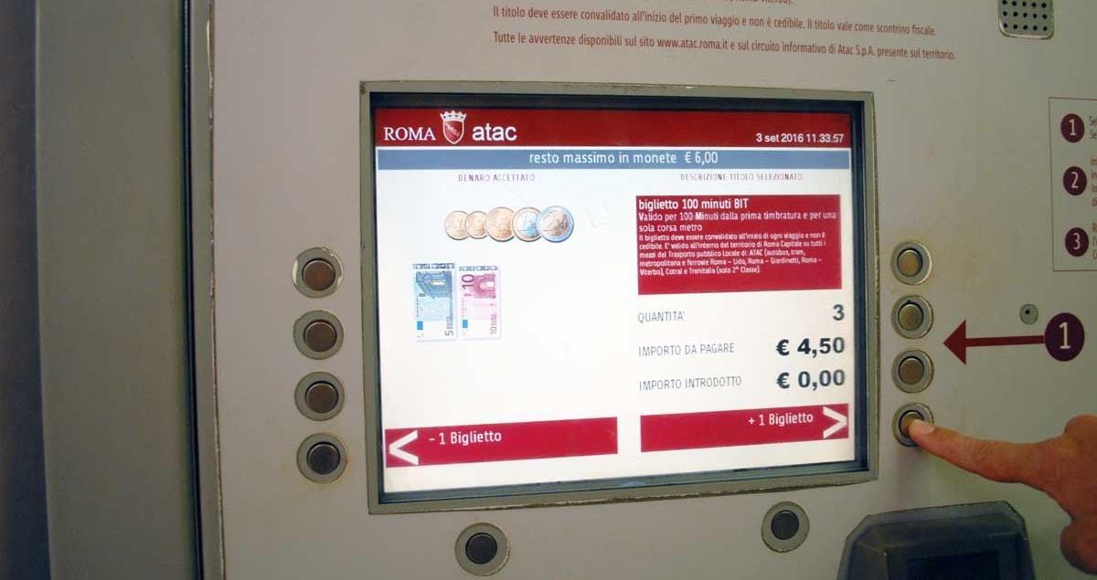 Как купить билет в метро Рима