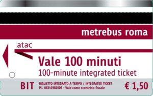 Одноразовый билет BIT для общественного транспорта Рима