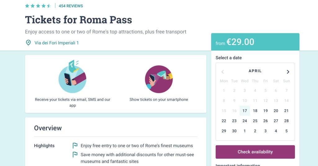 Как купить Roma Pass