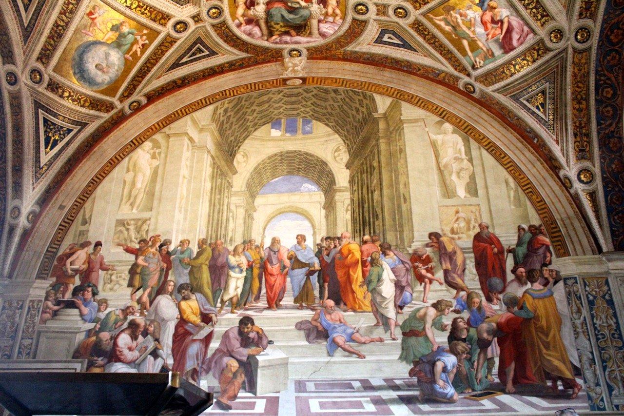 Афинская школа Рафаэля в музеях Ватикана