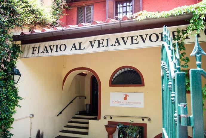 Ресторан Flavio al Velavevodetto в Риме