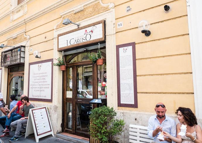 Мороженое в I Caruso в Риме