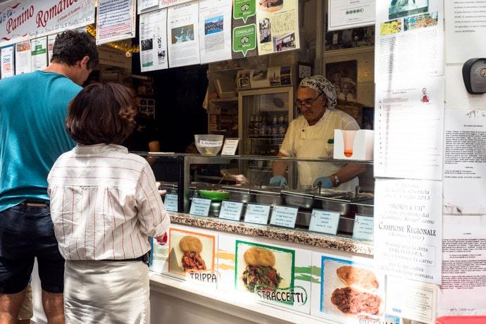 Закусочная Mordi e Vai в Риме