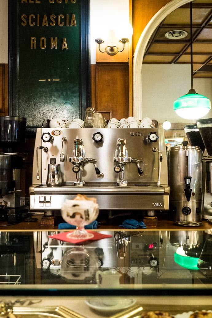 Кафе Sciascia в Риме