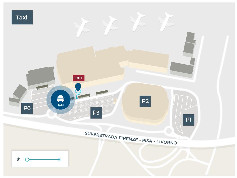 Такси в аэропорту Пизы