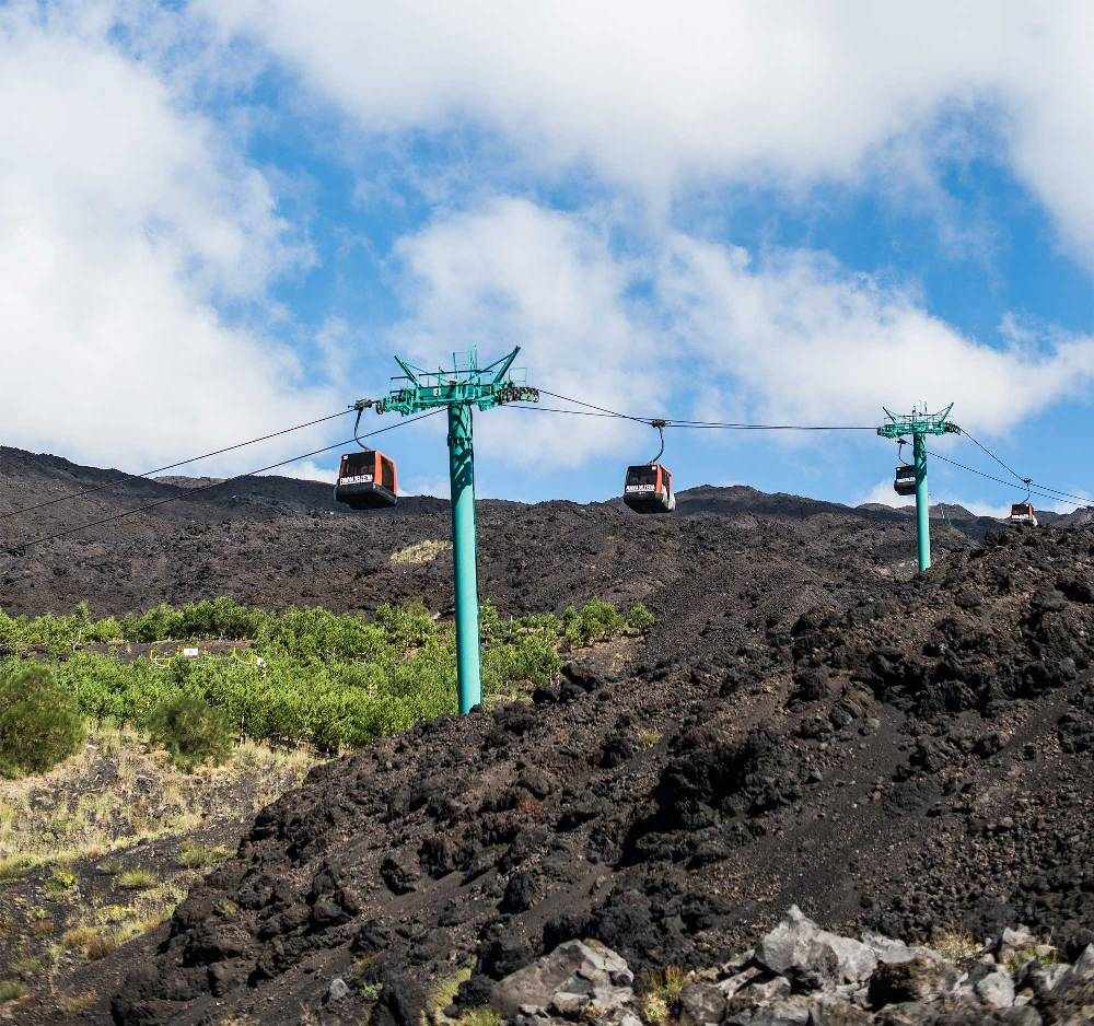канатная дорога к вулкану Этна