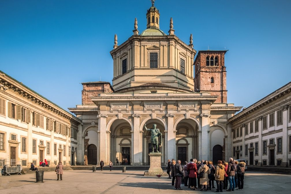 церковь, Сан-Лоренцо-Маджоре в Милане