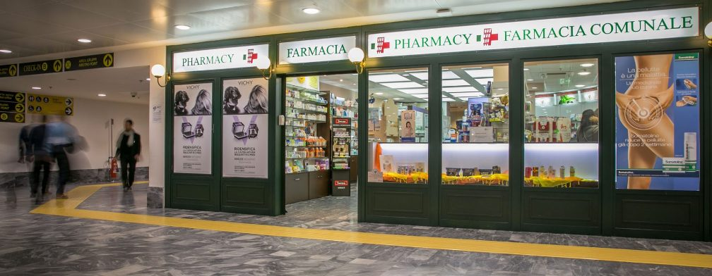 Аптека «Farmacie Comunali Pisa» в аэропорту