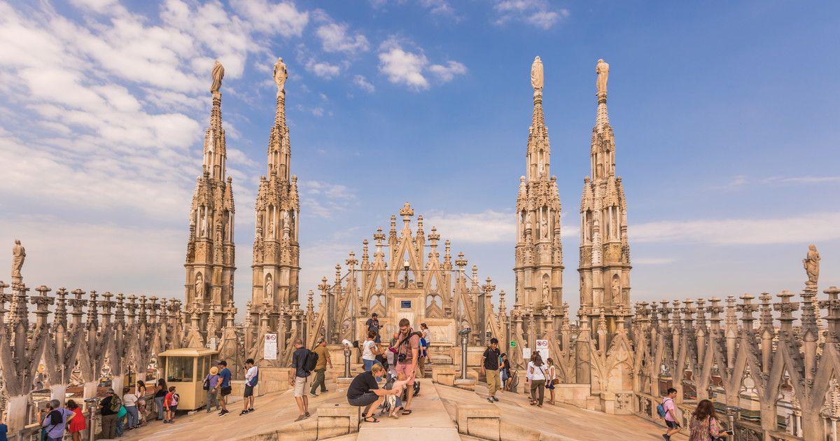 Крыша собора Дуомо в Милане