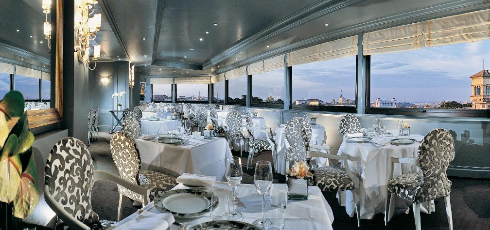 панорамный ресторан Ла Террацца дель Эден в Риме