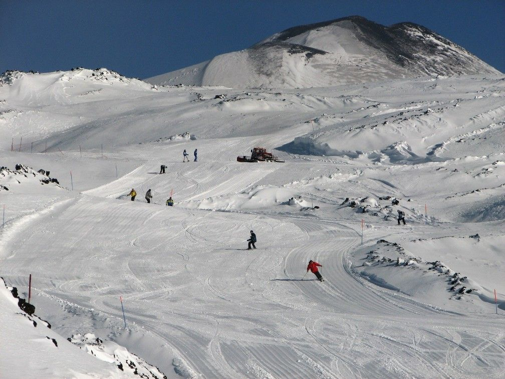 горнолыжная трасса на вулкане Этна