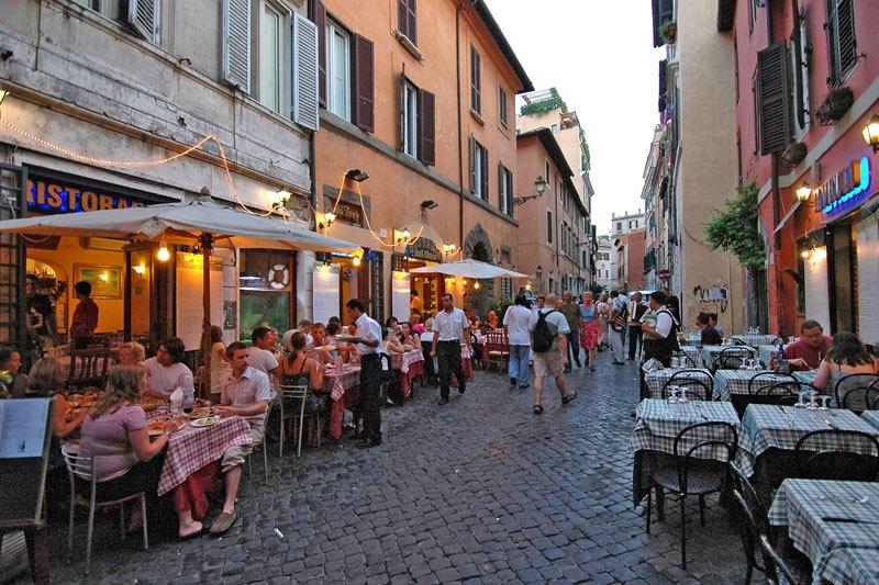 квартал Трастевере в Риме