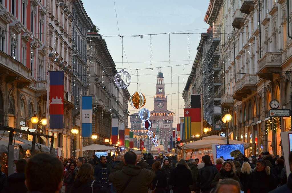 Улица Via Dante в Милане