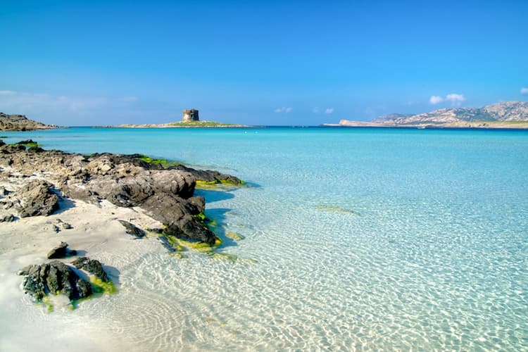 Город Стинтино на острове Сардиния