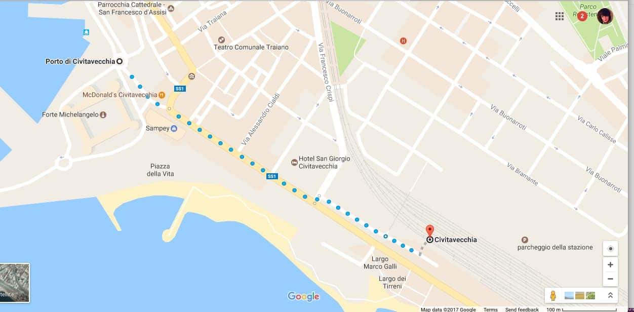Ж/Д вокзал Чивитавеккья