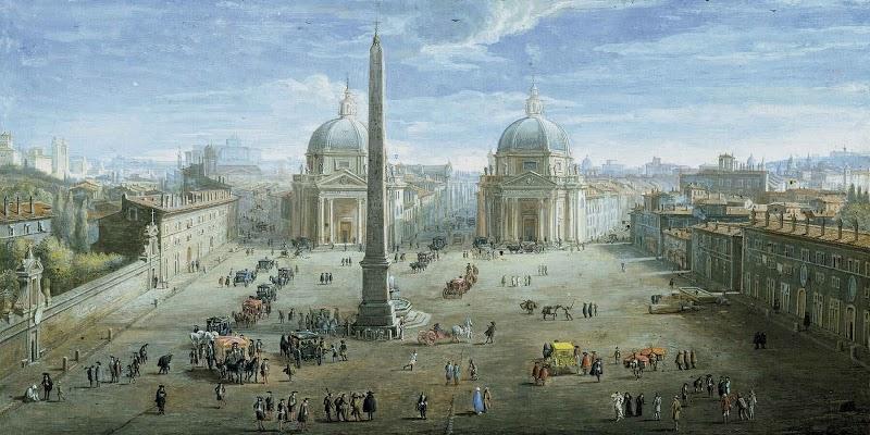 Пьяцца дель Пополо на картине Доменико Фонтана