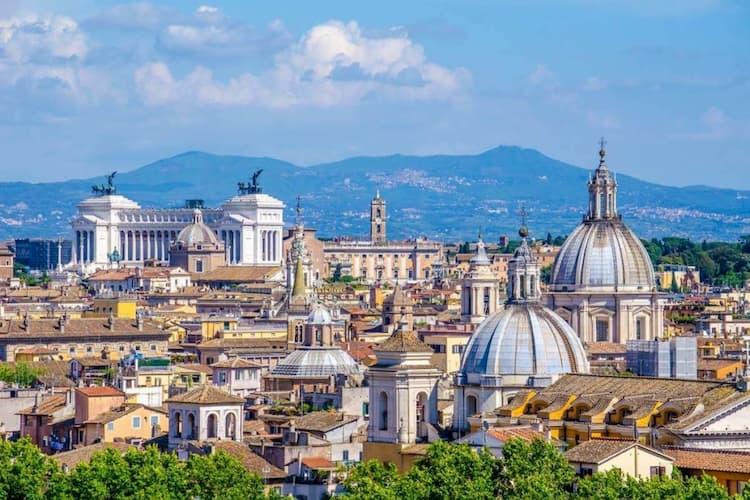 Вид с холма Яникул в Трастевере, Рим
