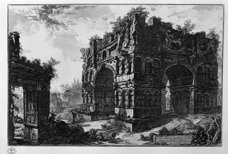 Арка Януса в Риме в Средние века