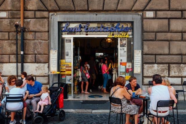 Кофейня Sant Eustachio в Риме