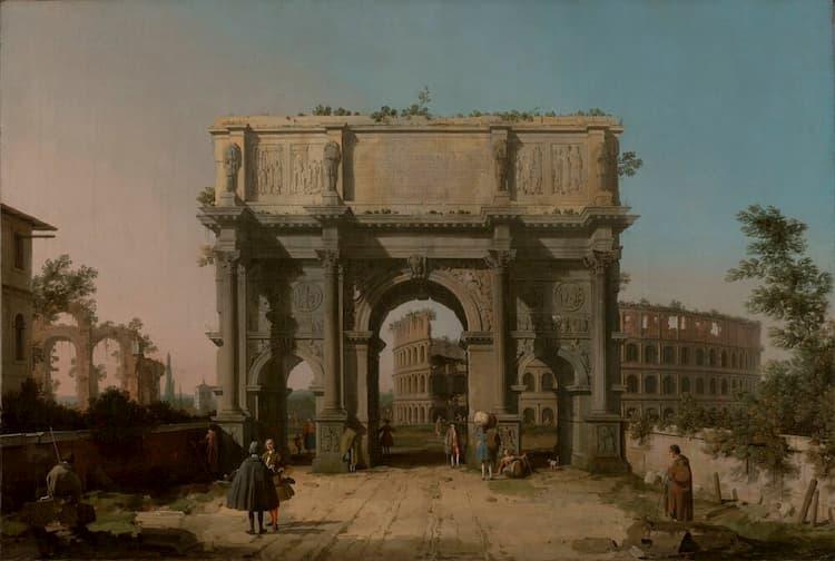 Арка Константина в Риме в Средние века
