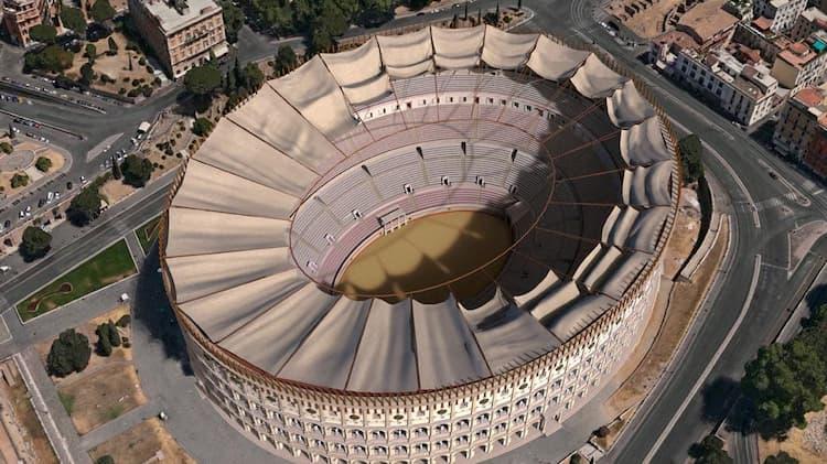 Колизей до разрушения в Риме