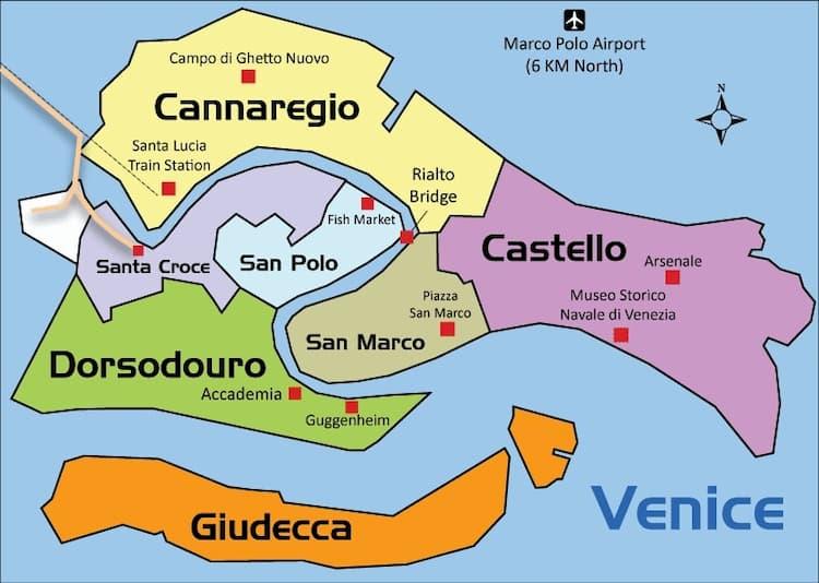 Районы Венеции: какой лучше выбрать